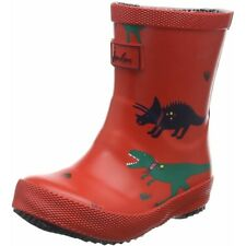 Joules Baby Printed Welly Dinosaur Rosso Gomma Bambino Wellingtons Stivali
