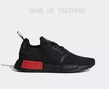 6253fe6e7179d adidas NMD R1 Core Black Lush Red Men s Trainers All Sizes