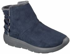 Skechers On The Go Stivali Donna Stivali Invernali 14616 Nvy Blu Navy Nuovo