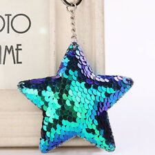 Cute Chaveiro Star Keychain Glitter Pompom Sequins Key Chain Gifts For Women Lla