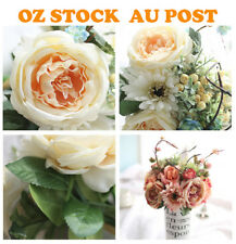 Artificial Bouquet Silk Flowers African Daisy Rose Peony Home Wedding Decoration
