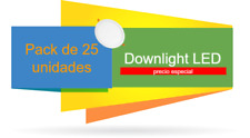 Pack 25 Unidades Downlight panel LED Cuadrado 20W