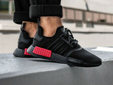 adidas NMD R1 Black Red Bred BOOST Mens Sneakers Trainers Shoes 6 - 12 39 - 47