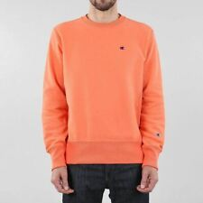 Champion Men's New Reverse Weave Regular Fit Crewneck Sweatshirt Orange