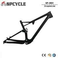 Full Suspension Carbon MTB Frame 29er Mountain Bike Full Suspension Frame 165*38
