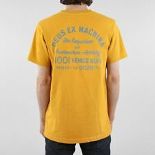 Deus Ex Machina Men's New Sunbleached Postmodern T-shirt Golden Yellow