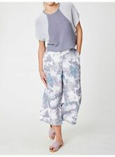 Ladies Thought Printed Hemp Wide Leg Culottes