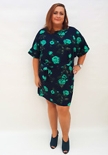 Wolfairy Womens Plus Size Dress Stretchy Floral Belt New Autumn Tunic