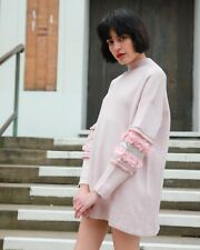 Floral sequin and crystal Stone diamond embellished tunic knitted jumper dress
