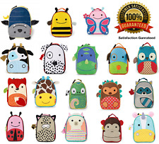 Skip Hop Zoo-let Kid / Childrens Insulated Animal Lunch Bag Box in All Themes
