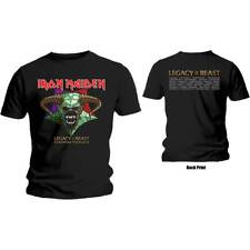 Official IRON MAIDEN Legacy Of The Beast Tour T Shirt Black Band Tee