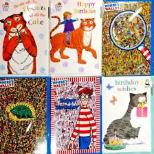 Birthday Card ~ The Tiger Who came to Tea / Mog The Cat / Where's Wally