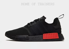 adidas Originals NMD R1 Black Red Men's Trainers All Sizes