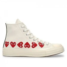 Comme des Garcons Play x Converse Chuck Taylor White High Multi Heart Shoes