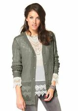 Aniston Strickjacke, grau Gr 34 36 38 40 44  UVP: € 44.99