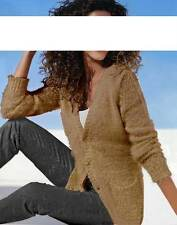 Heine - Best Connections Flausch-Strickjacke, camel Gr 40 42 44 UVP: € 49.90