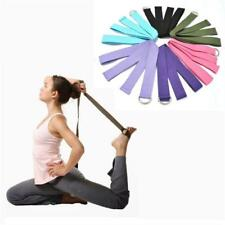 Yoga Stretch Exercise Belt Resistance Band Fitness Elastic Pilates Strap Waist