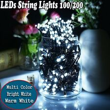 100/200 Super Bright LEDs Fairy String Lights Party Xmas Wedding Patio Outdoor