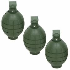 3 x Plastic Toy Hand Grenades with Light & Sound