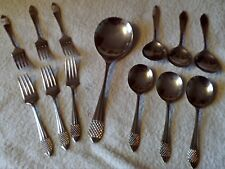 VINTAGE EPNS SHEFFIELD PLATE MADE IN ENGLAND Cutlery Pickle Forks Serving Spoons