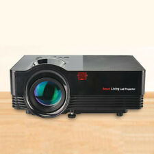 1500Lumens Proyector Proyector Negro 10.2cm LCD Multimedia 1080P Led Útil