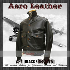 NEW MEN BOMBER Military AIR FORCE 100% GENUINE LEATHER FLIGHT A1 BLACK JACKET