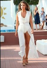 ZARA LONG EMBROIDERED DRESS OFF WHITE Ref. 7521/107 M BLOGGERS FAVORITE