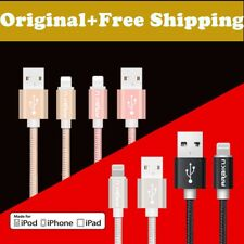 3FT Braided Sync Data USB Cable Cord Lightning Charger for iPhone 5 6 6s 7 Plus