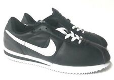 Nike Cortez Basic Leather 303986-011 Size 10.5 Mens Black/White Shoes Sneakers