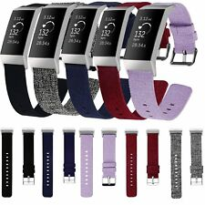 Nylon Fabri Wrist band Replacement Strap Bracelet For Fitbit Charge 3 Tracker