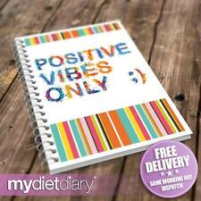 DIET DIARY SLIMMING WORLD COMPATIBLE - Positive Vibes (S012W) 12wk diary journal