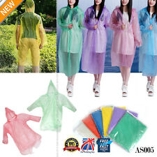 1X Desechable Adulto Emergencia Impermeable Poncho Senderismo Camping AS005