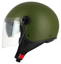 Motorcycle Helmet/Scooter Demi-Jet S-line S706 R FULLY Green Army Double Visor