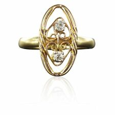 Anello antico diamanti filigranata Oro Giallo 18K Oro Rosa 18K Vintage Ring