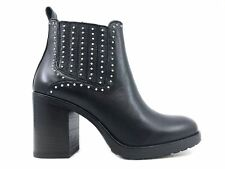 JANET & JANET 42454 STIVALETTO DONNA IN PELLE NERA MainApps