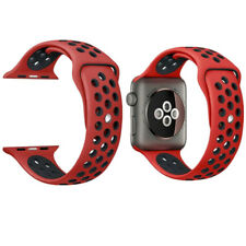 Replacement Sport Silicone Strap Band For Apple Watch Nike+ iWatch 4/3/2/1 RED