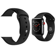 Replacement Sport Silicone Wrist Strap Band For Apple Watch iWatch 4/3/2/1 BLACK