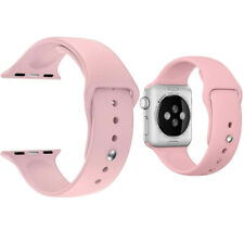 Replacement Sport Silicone Wrist Strap Band For Apple Watch iWatch 4/3/2/1 PINK