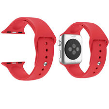 Replacement Sport Silicone Wrist Strap Band For Apple Watch iWatch 4/3/2/1 RED