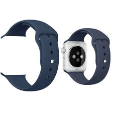 Replacement Sport Silicone Wrist Strap Band For Apple Watch iWatch 4/3/2/1 NAVY