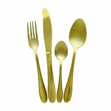 Gold Plated Stainless Steel Kitchen Pro Cutlery Set 16 24 32 48 Pieces Large G2