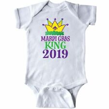 Inktastic Mardi Gras King 2019 Infant Bodysuit Crown Holiday Party Parade New