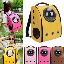 Dog Cat Pet Astronaut Capsule Backpack Carrier Box With Breathable Opening