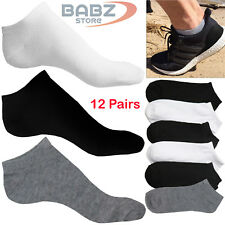 12 X Pairs Men Women Non Slip Athletic Casual Uniform Official Cotton Ankle Sock