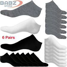 6 X Pairs Men Women Non Slip Athletic Casual Uniform Official Cotton Ankle Socks