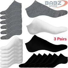 3 X Pairs Men Women Non Slip Athletic Casual Uniform Official Cotton Ankle Socks