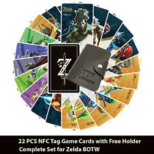 Zelda BOTW 22PCS NFC PVC Tag Game Cards 20 Hearts Wolf Link for Switch/Wii U