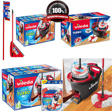 Vileda Easy Wring and Clean Turbo Microfibre Mop and Bucket Set and Refil - Grey