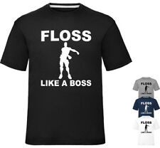 Kids Gaming T Shirt Default Floss Like A Boss T-Shirt Gamer Tee Childrens Top