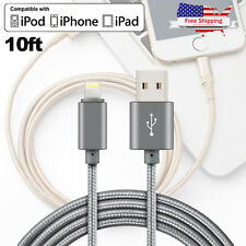 Lightning Cable 10Ft MFi Certified Charger for Apple iPhone 8 Plus 7 6 X 5